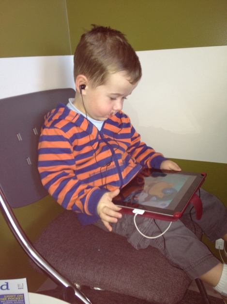 Matthew's nephew Lincoln, a set of noise-cancelling headphones, and The Octonauts