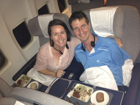 Matt and Di Business Class