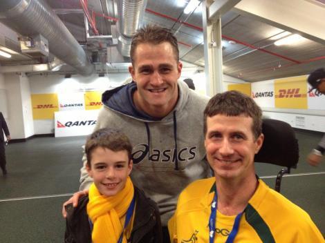 James Horwill with Matthew and Luke