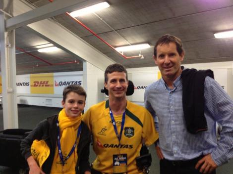 Luke, Matthew, and Robbie Deans