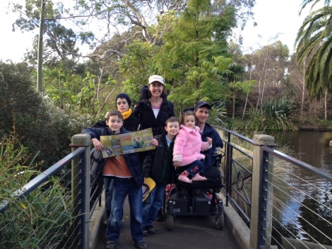 At Melbourne Zoo, prior to surgery.